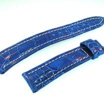 Breitling Band 19mm Croco Blau Blue Azul Strap Für Dornschlies...
