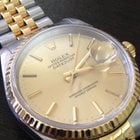 Rolex date just Ref. 16233 gold-steel P series