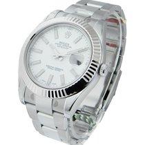 Rolex Unworn 116334wio Datejust II 41mm in Steel with White...