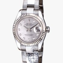 Rolex Datejust Diamond Dial 18k White Gold Ladies