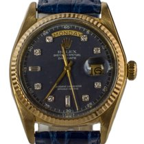 Rolex Day Date 18028 Gold Diamonds 1977 Blue Dial 36mm