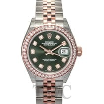 ロレックス (Rolex) Lady-Datejust 28 Olive Green Steel/18k Everose...