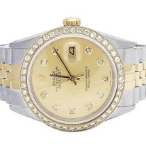 Rolex 18K/Steel Datejust Two Tone 36MM 16013 Champagne Dial...