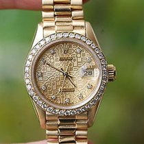 Rolex Ladies 69178  President 26mm 18k Yellow Gold Diamond...