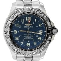 Breitling Superocean Men's 42mm Blue Dial Stainless Steel...