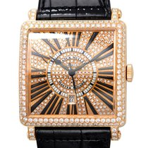 Franck Muller Master Square 18 K Rose Gold With Diamonds Gold...