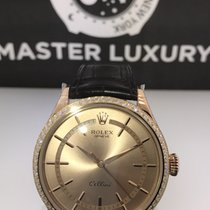 Rolex 50705RBR Cellini Pink Dial Diam Bezel Rose Gold