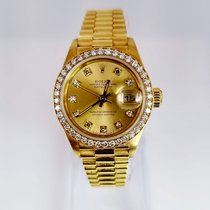 Rolex Lady-Datejust Diamond Champagne Dial  Diamond Bezel Factory