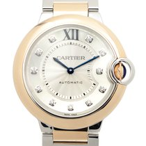 Cartier Ballon Bleu 18k Pink Gold Silver Automatic W3BB0007