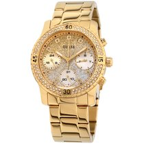 Guess Confetti Gold Dial Stainless Steel Ladies Watch W0774l5