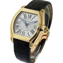 Cartier W62005V2 Roadster Large in Yellow Gold - on Black...
