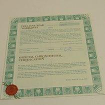 Rolex Warranty Certificate Ref: 69173