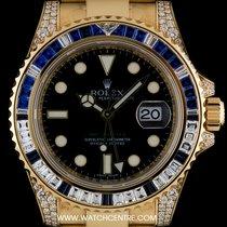 Rolex 18k Y/G Diamond & Sapphire GMT-Master II NOS B&P...