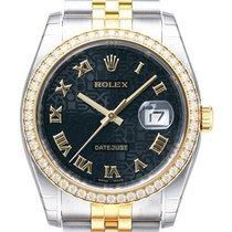 ロレックス (Rolex) Datejust 36 Diamant Lünette 116243 Schwarz...