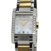 Baume & Mercier Lady Watch steel 18K Gold DIAMONDS MOA08599
