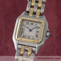 까르띠에 (Cartier) Lady Panthere Gold / Stahl Damenuhr Karrée...