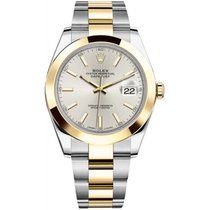 Rolex Datejust II Steel and Yellow Gold Silver Stick Dial 41mm