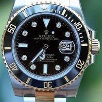 Rolex 18k Gold & Steel Mens Submariner Watch Factory...