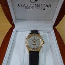 Claude Meylan Handaufzug Valjoux 89 Kalender und Mondphase