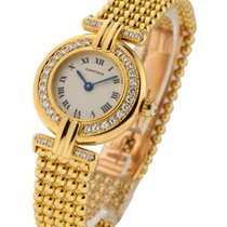 Cartier Col_YG_Bead Colisee with Diamond Bezel and Lugs -...