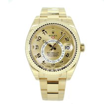 Rolex Sky Dweller 326938  Yellow Gold Champagne Dial