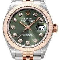 Rolex Lady-Datejust 28 279171 Olive Diamant Jubile-Band