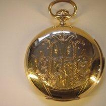 Unbekannt Viertelrepetition Savonnette Taschenuhr 14k Gold