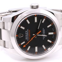 Rolex Mens 116400 Milgauss - Black Dial - Oyster Band - Mint...