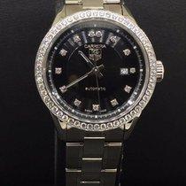 TAG Heuer Carrera Ladies Steel Diamond Bezel Black Diamond...