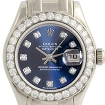 Rolex Ladies 18k White Gold Diamond Pearlmaster Masterpiece...