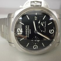 Panerai Pam 347 Luminor 1950 Gmt 3 Day Power Reserve Watch W/...