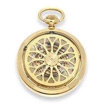 Hebdomas Pocket watch: rare skeletonized pocket watch with...