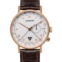Junkers Eisvogel F13 Swiss Quartz Watch 40mm Rgold Case 50m Wr...