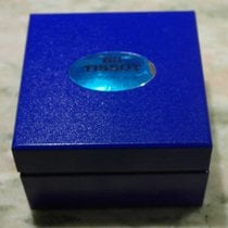 Tissot vintage watch box cube blu nos