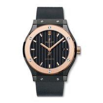 Hublot Classic Fusion 42mm Automatic Black Ceramic Mens Watch...