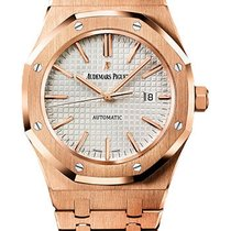 Audemars Piguet Royal Oak Rose Gold 41mm White Dial 15400OR.OO...
