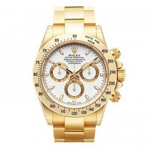 Rolex Cosmograph Daytona 40mm Yellow Gold 116528 Mens Watch
