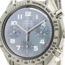 Omega Polished Omega Speedmaster Automatic Blue Mop Steel Mens...