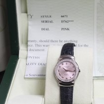 Rolex Ladies Cellini Cellissima 6671 18K W Gold Pink Dial