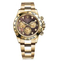 Rolex DAYTONA 18K Yellow Gold Dark MOP Diamond Dial