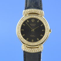 Rolex Cellini 18K Gelbgold Diamanten