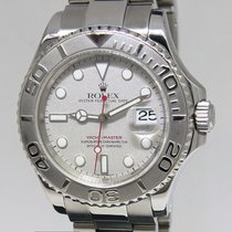 Rolex Yacht-Master Platinum & Stainless Steel Mens 40mm...