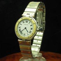 Cartier Santos Vendome 18kt 750 Gold / Edelstahl Damenuhr...