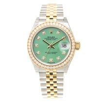 勞力士 (Rolex) Lady Datejust 18k Gold Diamond Steel Light Green...