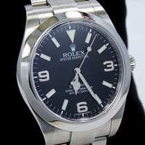 Rolex Explorer I 39mm 214270 Steel Oyster Black Dial Watch...