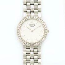 Seiko White Gold Baguette Diamond Watch