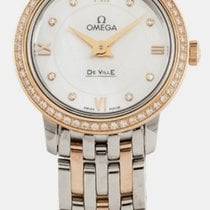 Omega De Ville Prestige White MOP Dial 24.4MM Diamonds Watch...