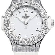 Hublot Big Bang 38mm Quartz Steel White Pavé