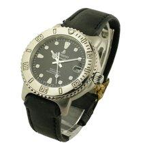 Bertolucci 634.55. Diver in Steel - on Black Leather Strap...