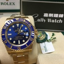 Rolex Cally - 116618LB Submariner Full Yellow Gold Blue dial